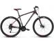 Велосипед Kross Hexagon 6 (2018) black/graphite/red matte 1