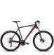Велосипед Kross Level 3.0 (2018) black/red/silver matte 1