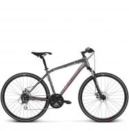 Велосипед Kross Evado 4.0 (2018) graphite/red matte