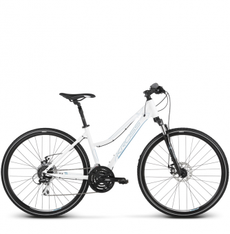 Велосипед Kross Evado 4.0 (2018) white/blue glossy
