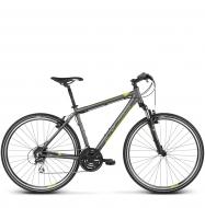 Велосипед Kross Evado 3.0 (2018) graphite/lime matte