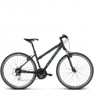 Велосипед Kross Evado 3.0 (2018) black/blue matte