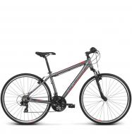 Велосипед Kross Evado 1.0 (2018) graphite/red matte