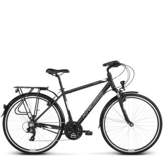 Велосипед Kross Trans 1.0 (2018) black/white matte