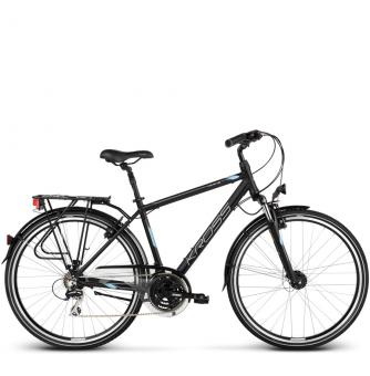 Велосипед Kross Trans 3.0 (2018) black/blue/silver matte