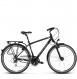 Велосипед Kross Trans 3.0 (2018) black/blue/silver matte 1