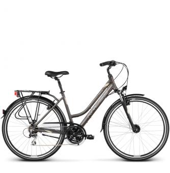 Велосипед Kross Trans 3.0 (2018) brown/cream/silver matte