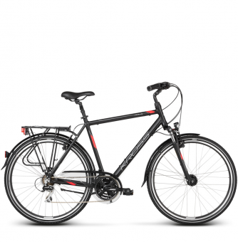 Велосипед Kross Trans 3.0 (2018) black/red/silver matte