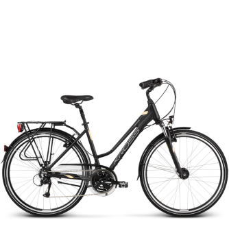 Велосипед Kross Trans 4.0 (2018) black/cream/silver matte