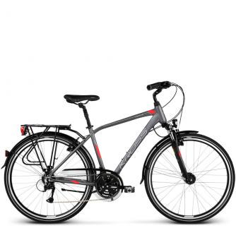 Велосипед Kross Trans 4.0 (2018) graphite/red/silver matte
