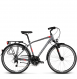Велосипед Kross Trans 4.0 (2018) graphite/red/silver matte 1