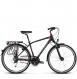 Велосипед Kross Trans 5.0 (2018) black/red/silver matte 1