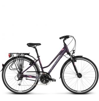 Велосипед Kross Trans 5.0 (2018) violet/silver matte