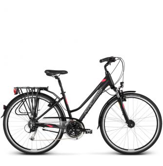 Велосипед Kross Trans 5.0 (2018) black/raspberry matte