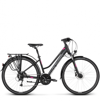 Велосипед Kross Trans 8.0 (2018) black/violet/silver matte